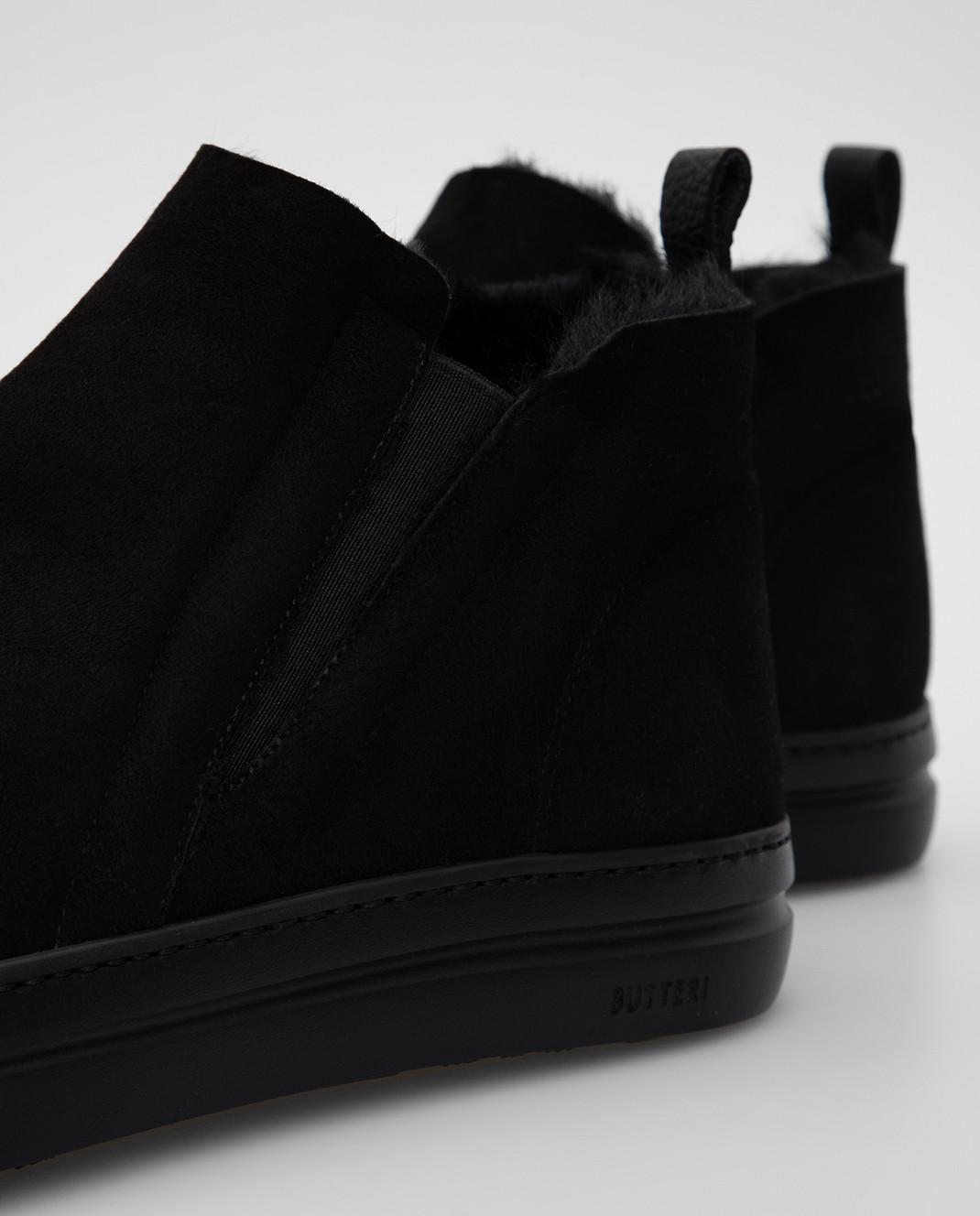 Gianfranco Butteri Черные замшевые ботинки на меху изображение 5