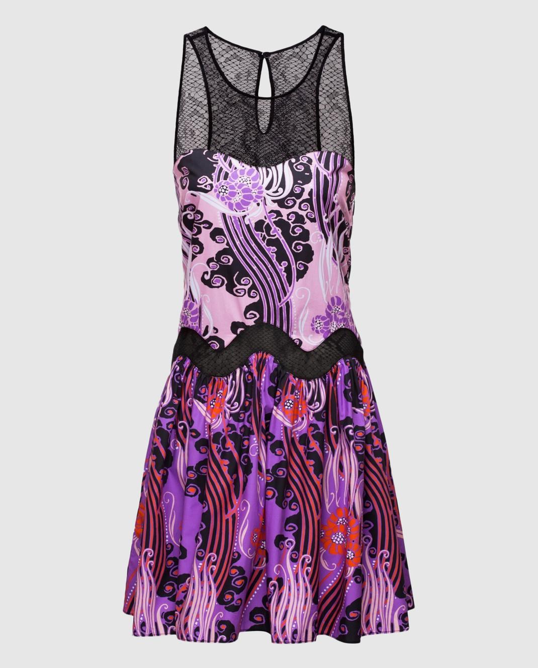 Roberto Cavalli Сиреневое платье CKT122