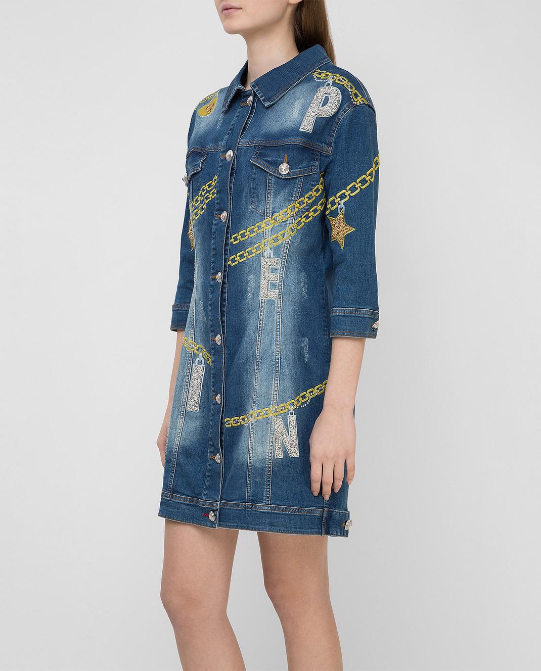 Philipp Plein Синее платье CWDG0016 изображение 3