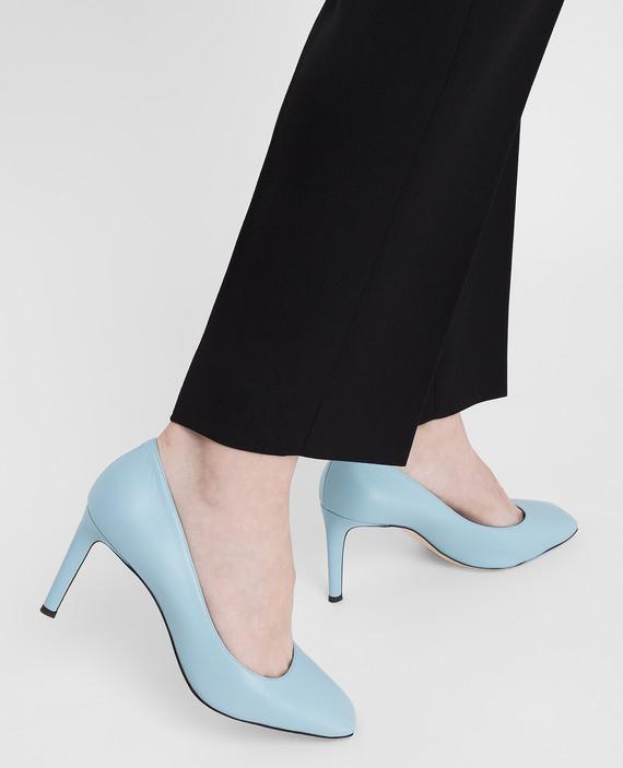 Голубые кожаные туфли hover