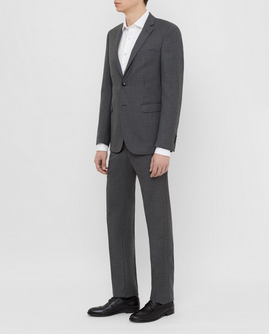 Florentino Темно-серый костюм из шерсти 219852960903 изображение 3