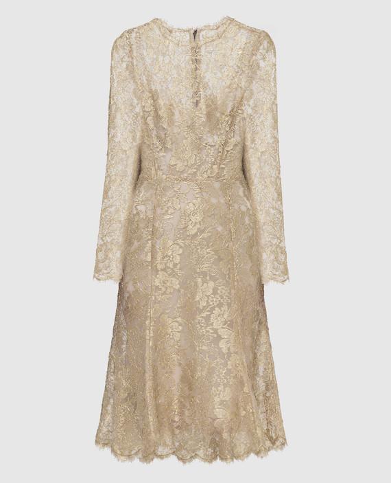 Золотистое платье