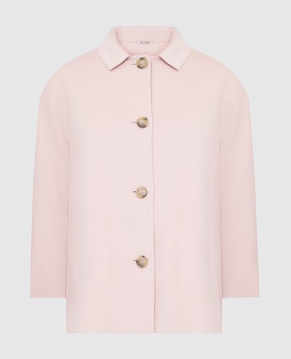 Розовое пальто из шерсти и кашемира