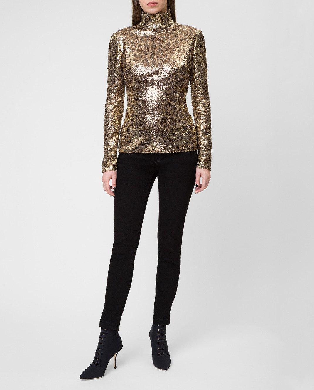 Dolce&Gabbana Золотистая блуза F72S3THSMTE изображение 2