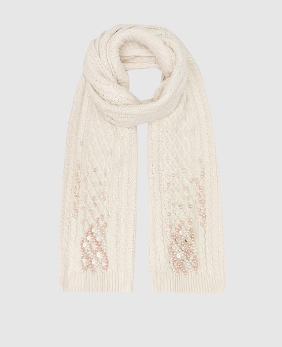 Светло-бежевый шарф