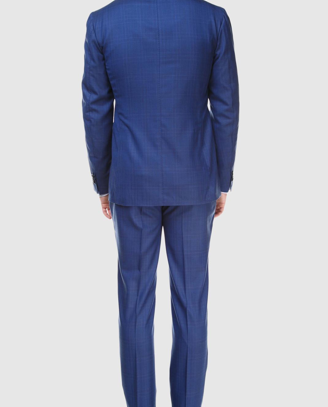 Stile Latino Синий костюм из шерсти AULUCA20A21SWA14 изображение 5