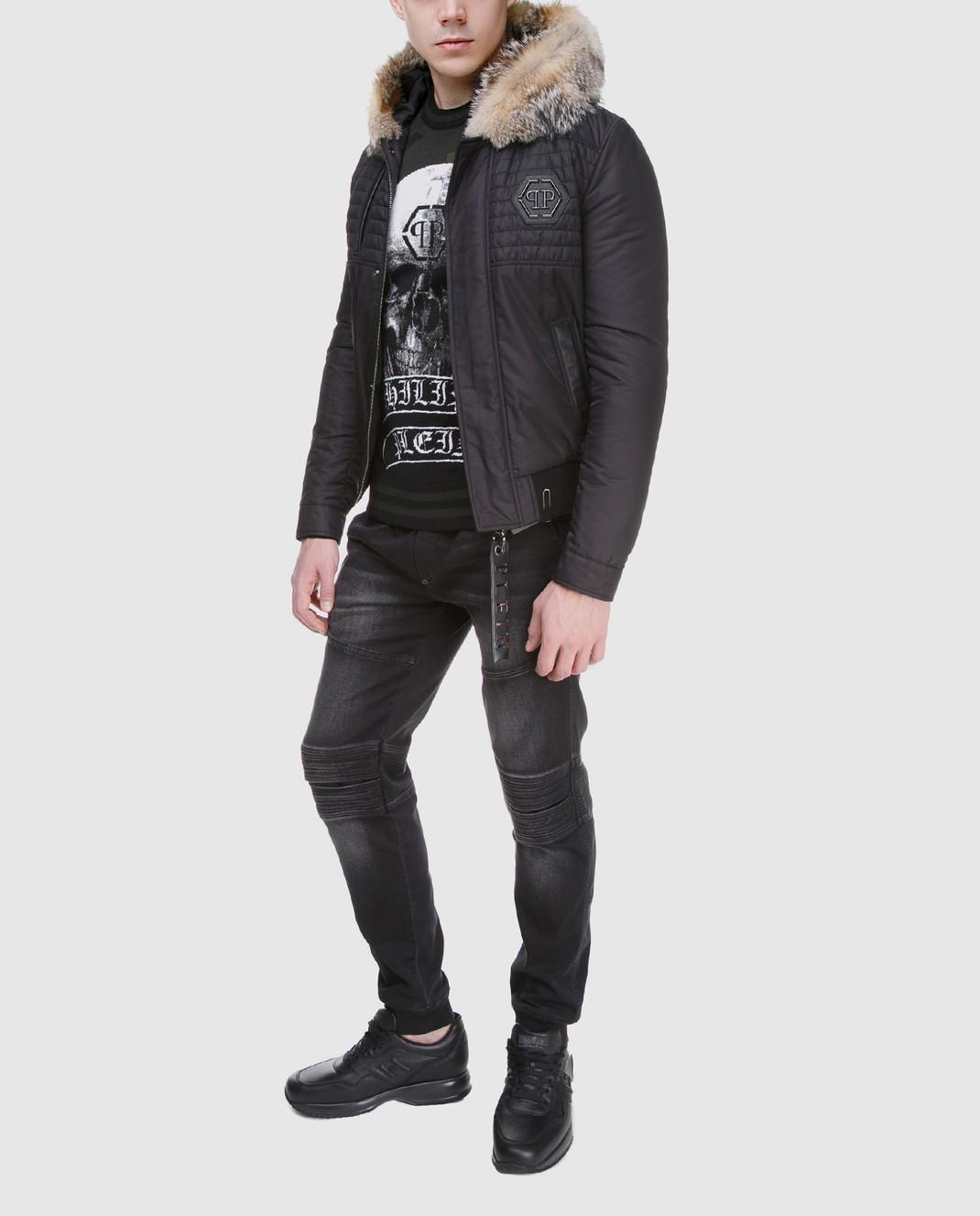 Philipp Plein Черная куртка MRB0340 изображение 2