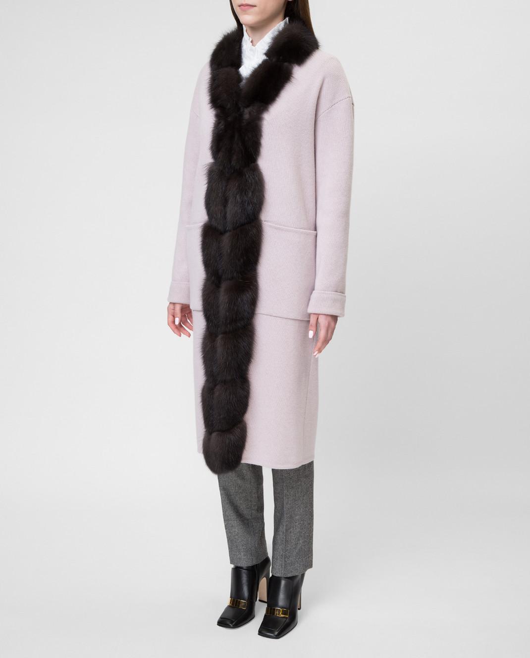 Real Furs House Пудровое пальто CSR01 изображение 3