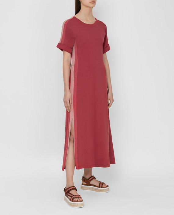 Терракотовое платье hover