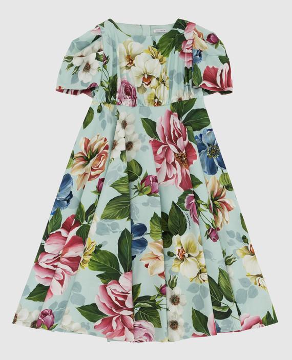 Детское мятное платье