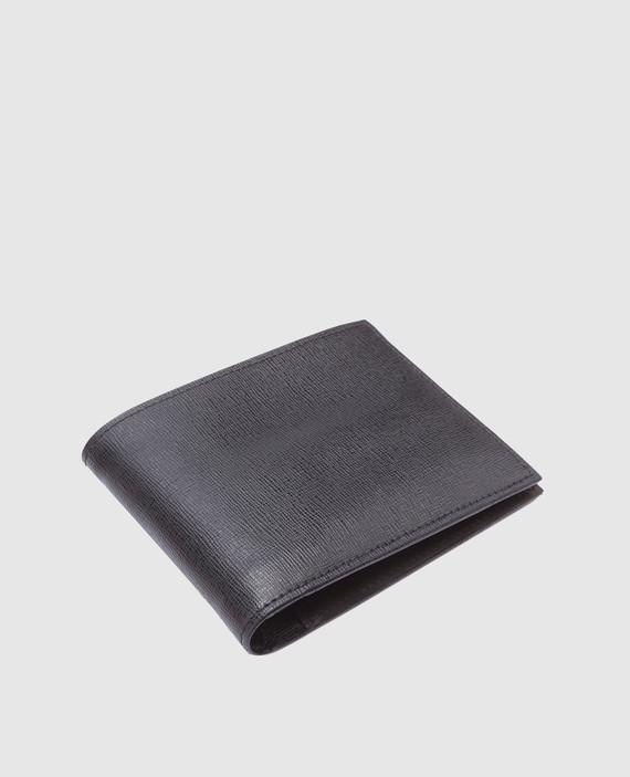 Черный кожаный кошелек hover