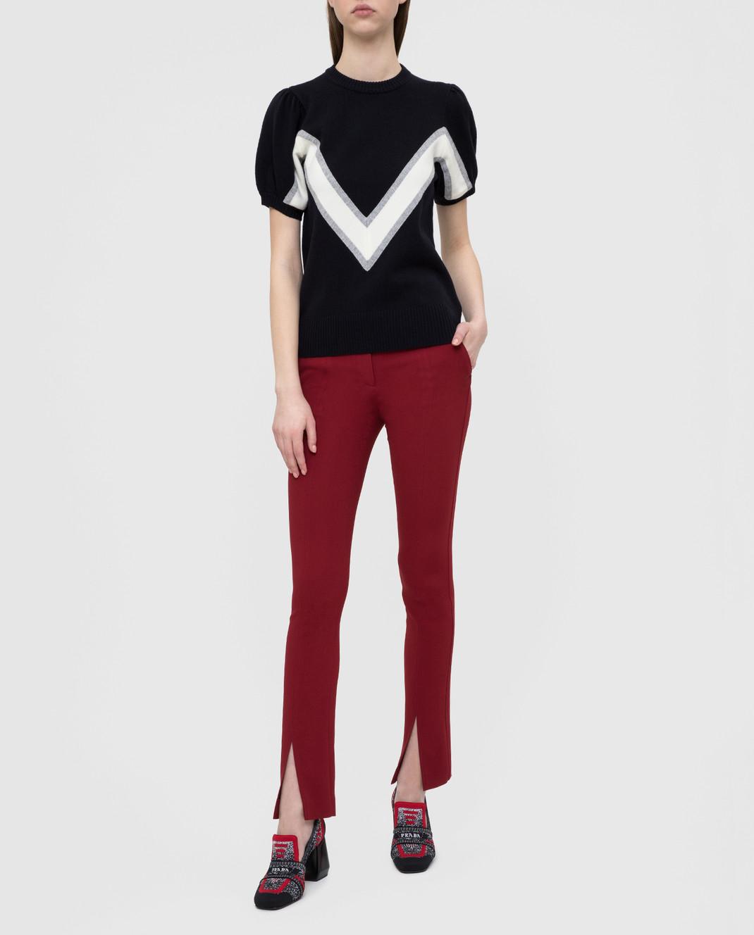 Victoria Beckham Бордовые брюки изображение 2