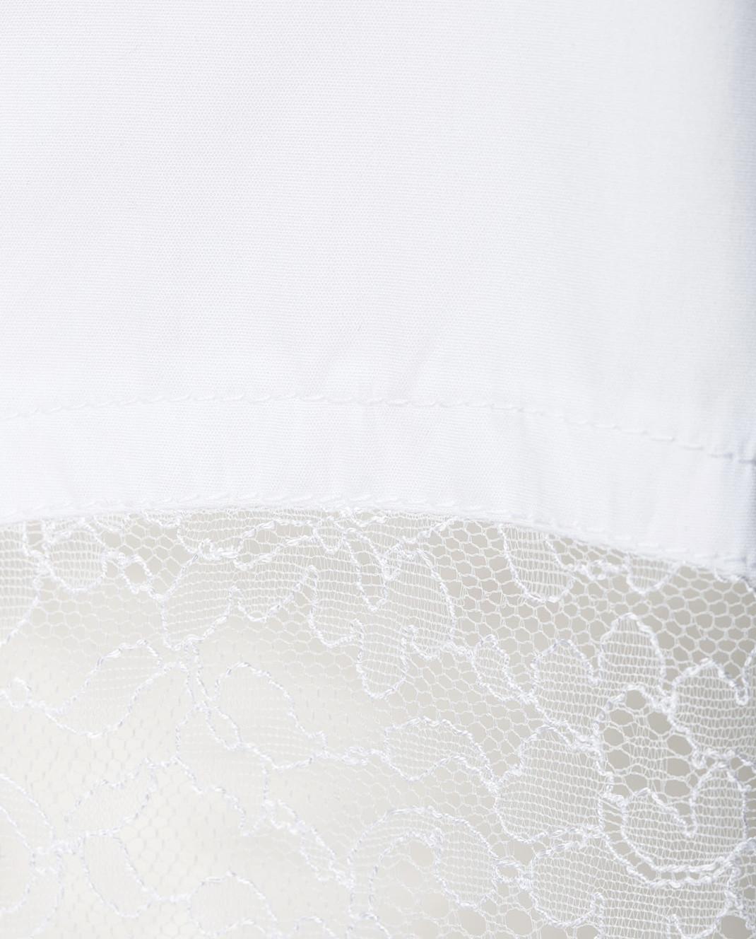 NINA RICCI Белая рубашка с кружевом 17ACT0027C00844 изображение 5