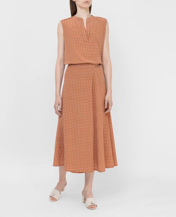 Светло-коричневая юбка из шелка hover