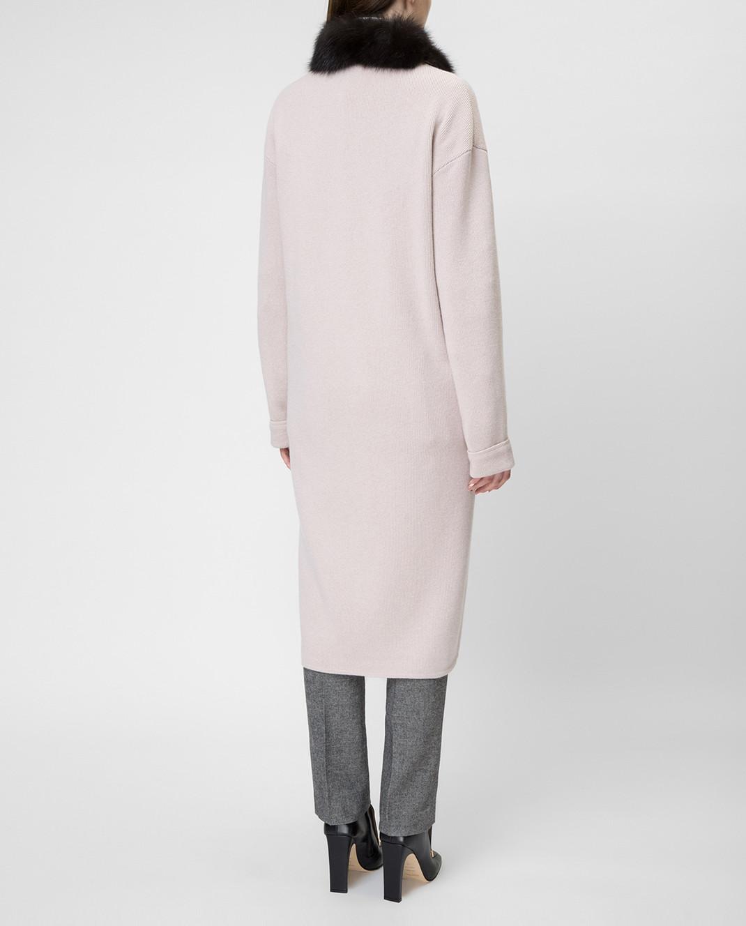 Real Furs House Бежевое пальто CSR01 изображение 4