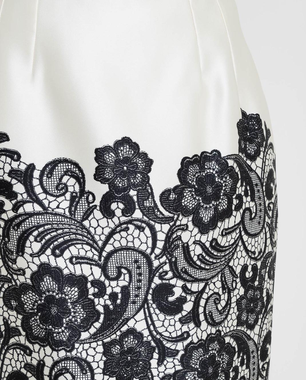 Dolce&Gabbana Светло-бежевая юбка из шелка F4T32TFS1YX изображение 5