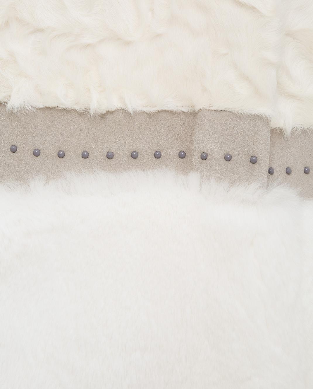 Rindi Белая шуба из меха кролика и альпаки 181RX0M5 изображение 5