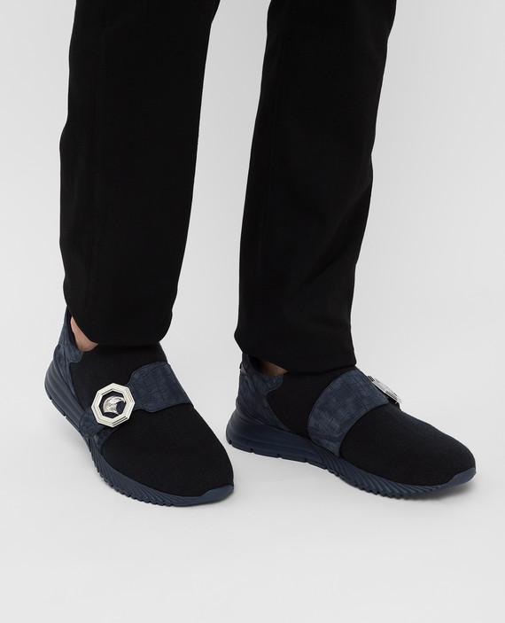 Темно-синие кроссовки hover