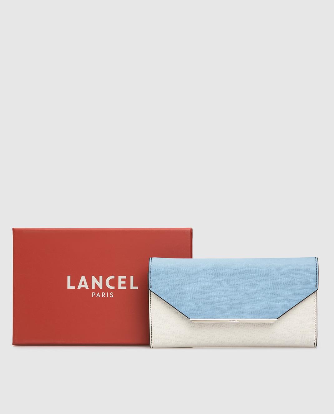 Lancel Голубой кожаный кошелек A07676 изображение 5