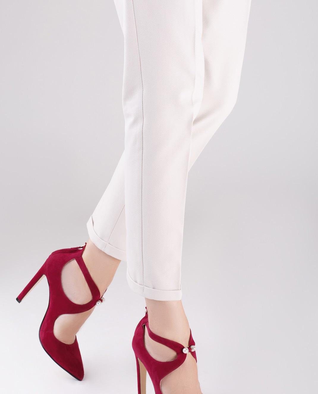 Cerasella Бордовые замшевые туфли PAOLA изображение 2