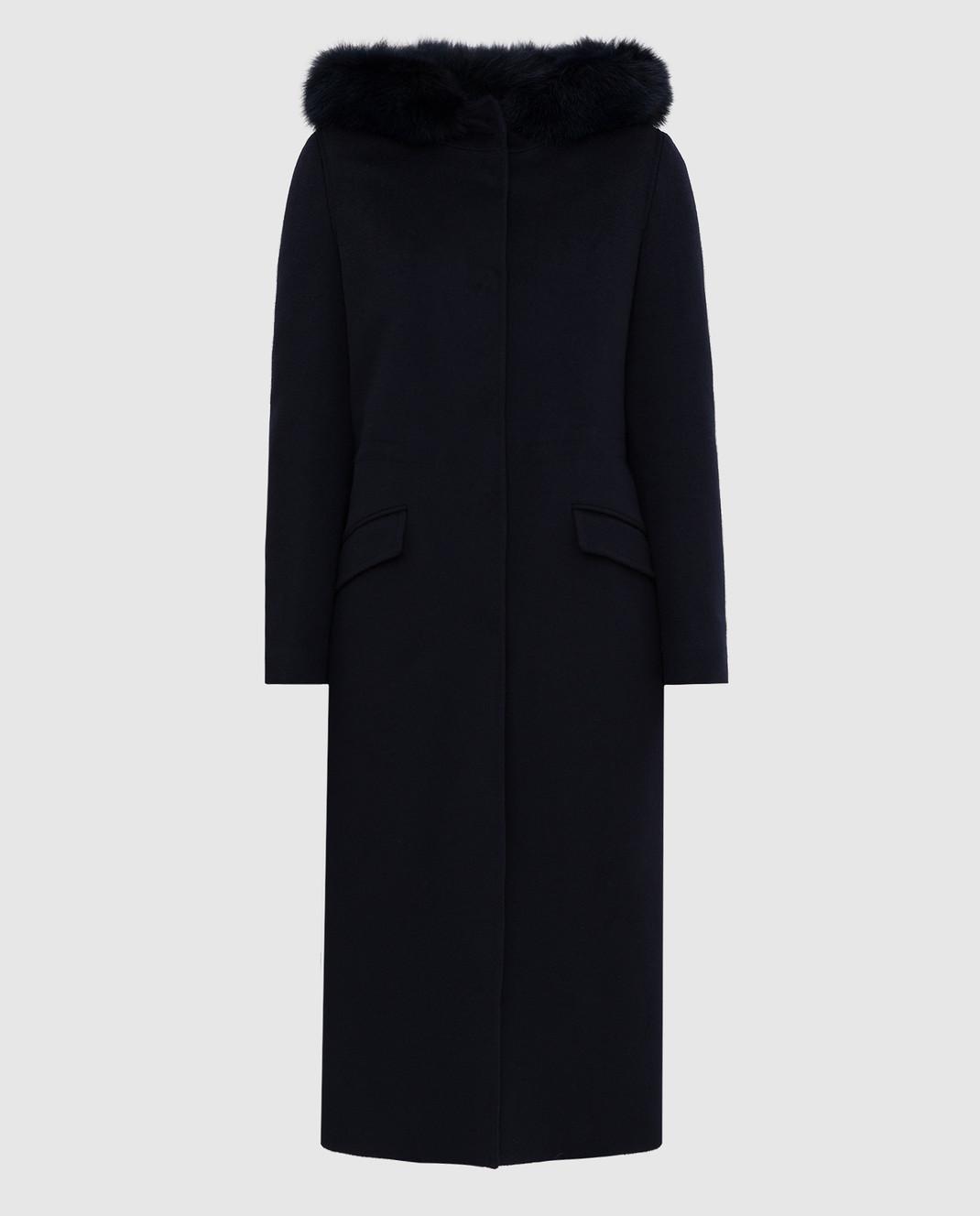 Heresis Темно-синее пальто из шерсти изображение 1