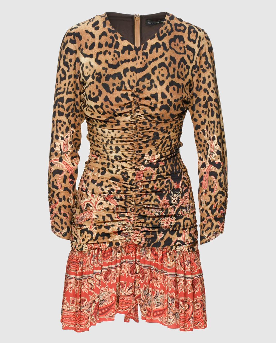 Etro Бежевое платье из шелка D152335384