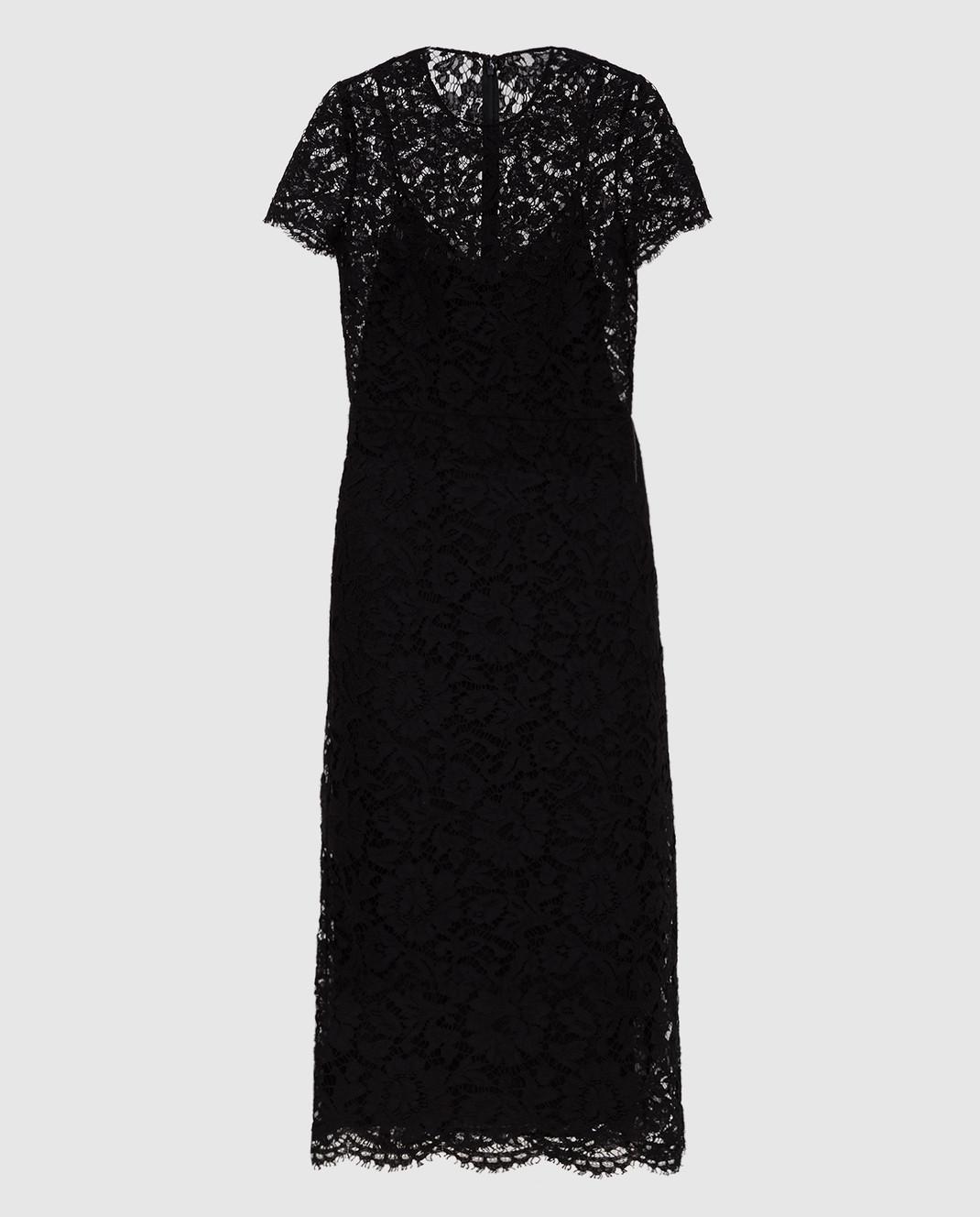 Valentino Черное платье из кружева SB3VABP51EC