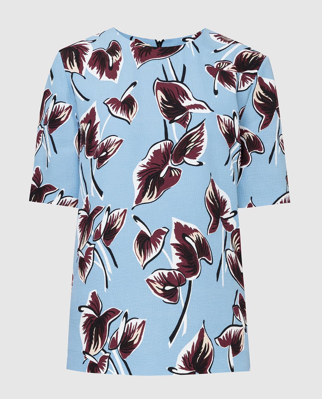 Marni Голубая блуза CAMAQ28A00TV456