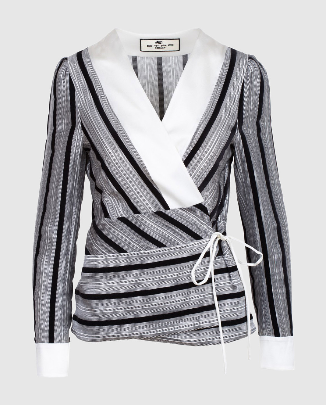 Etro Серая блуза из шелка D16097