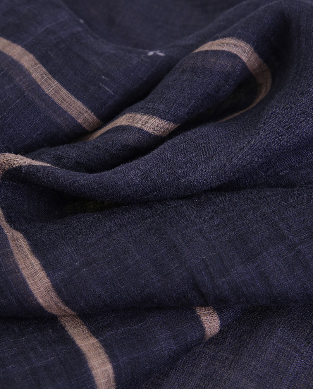 Brunello Cucinelli Темно-синий шарф из льна MSC600AG изображение 3