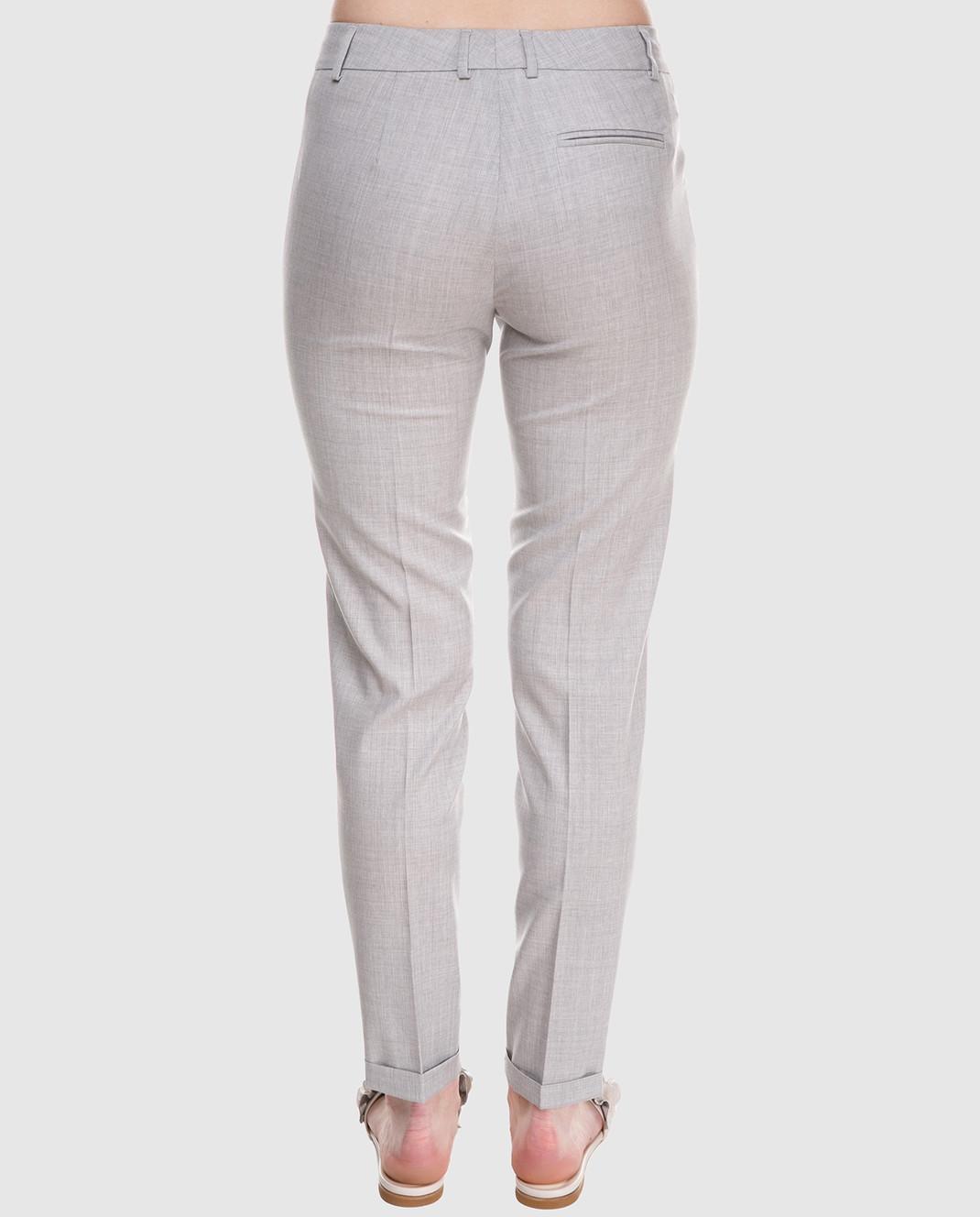 Fabiana Filippi Серые брюки из шерсти PG70118 изображение 4