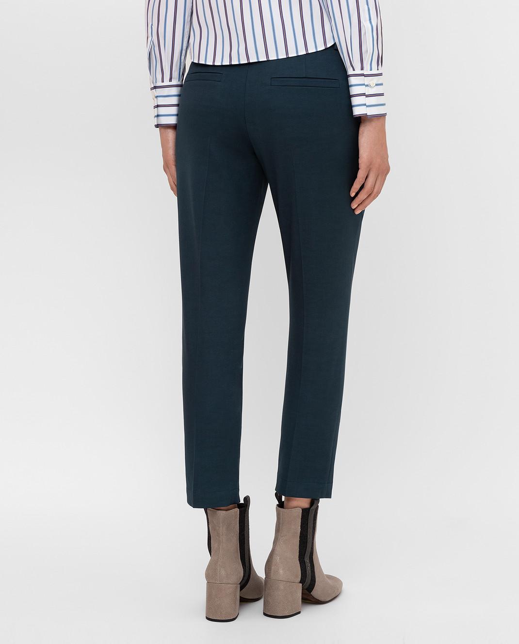 Brunello Cucinelli Темно-бирюзовые брюки изображение 4
