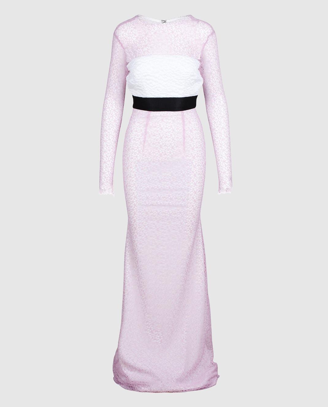 Alex Perry Сиреневое платье из кружева D936