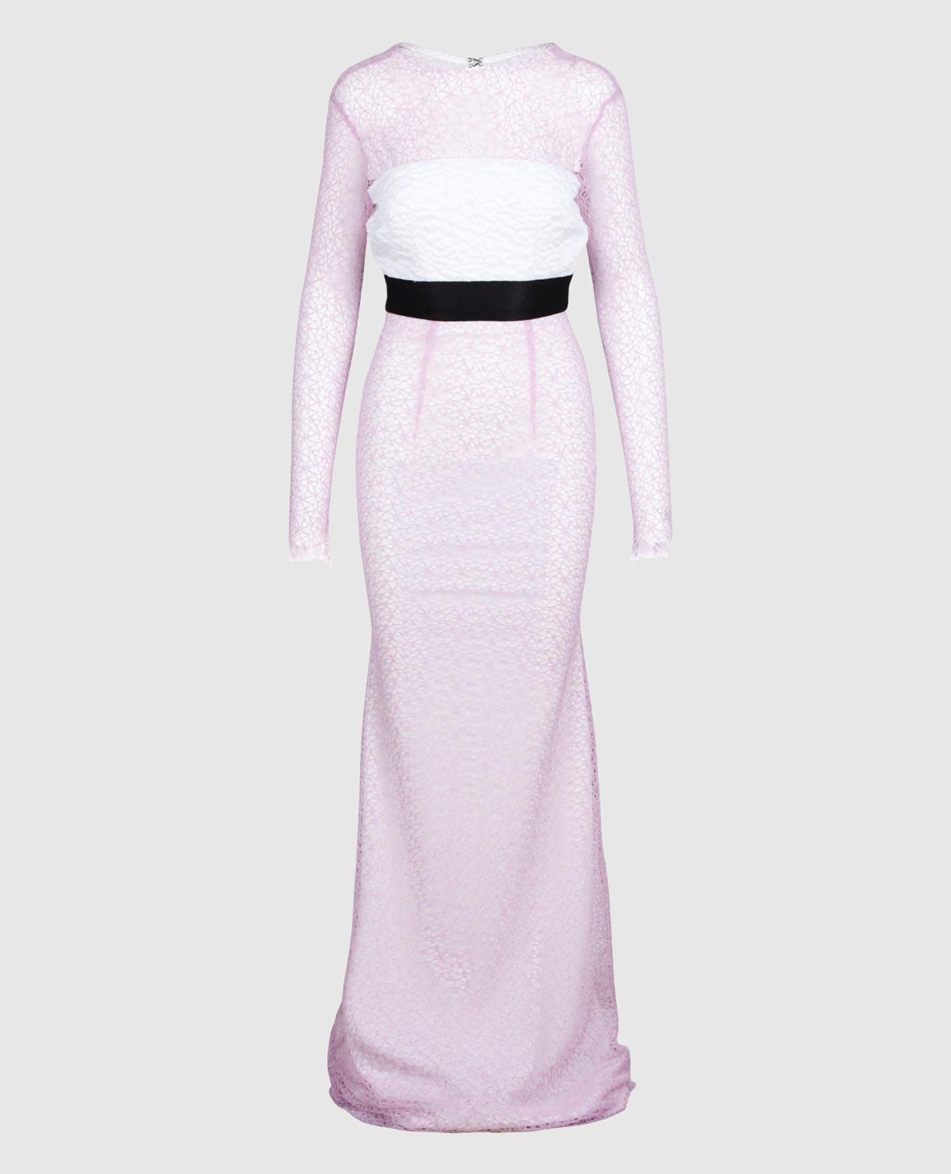 Сиреневое платье из кружева