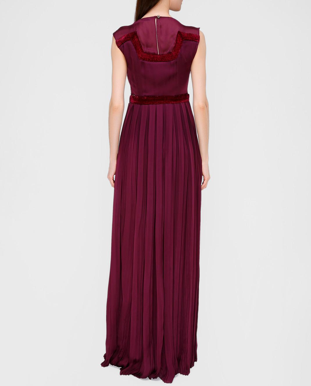 LARUSMIANI Бордовое платье из шелка 077581 изображение 4