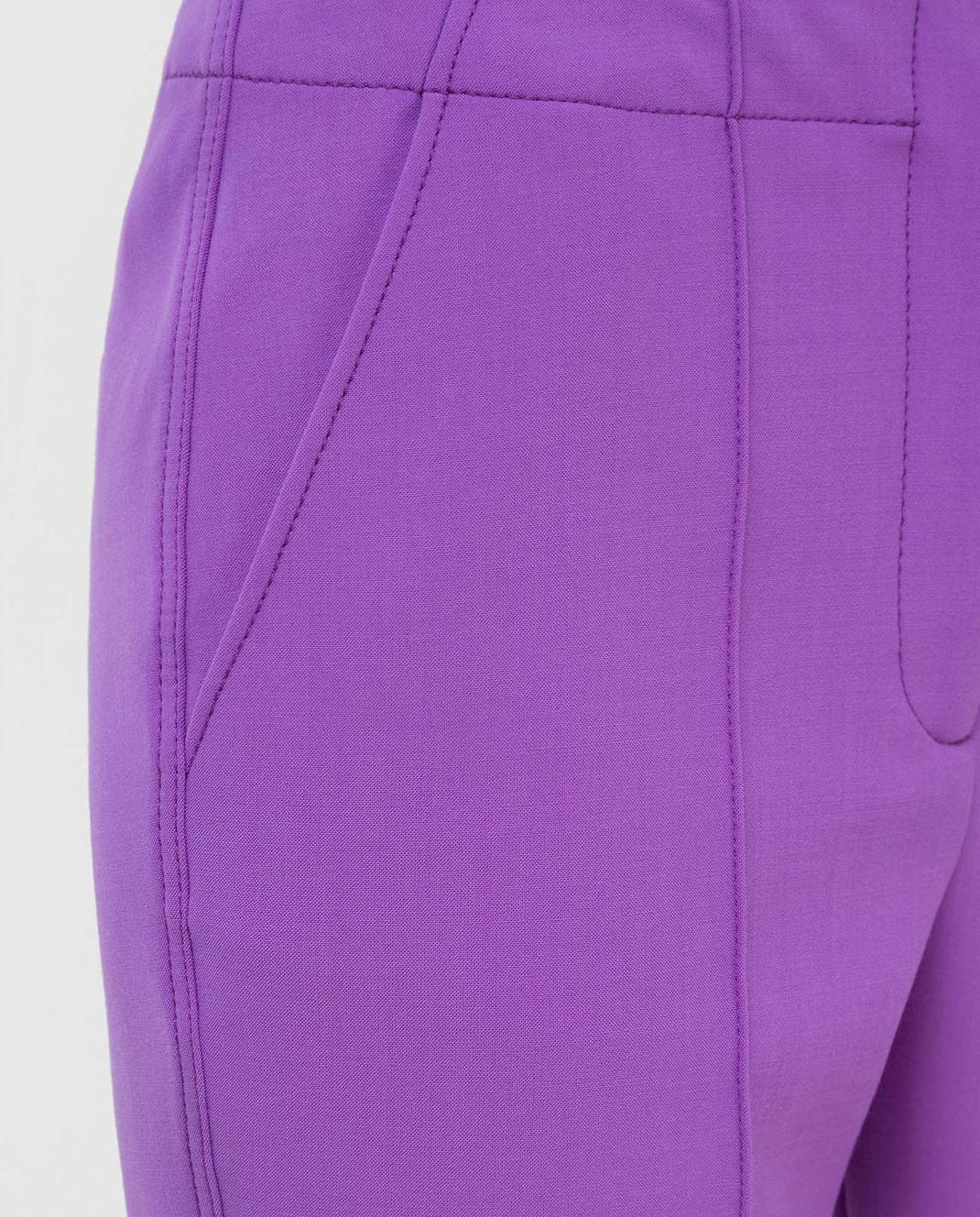 Victoria by Victoria Beckham Фиолетовые брюки TRVV101 изображение 5