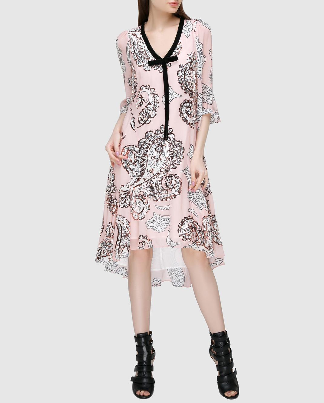 Manoush Персиковое платье ME7PPRO изображение 2