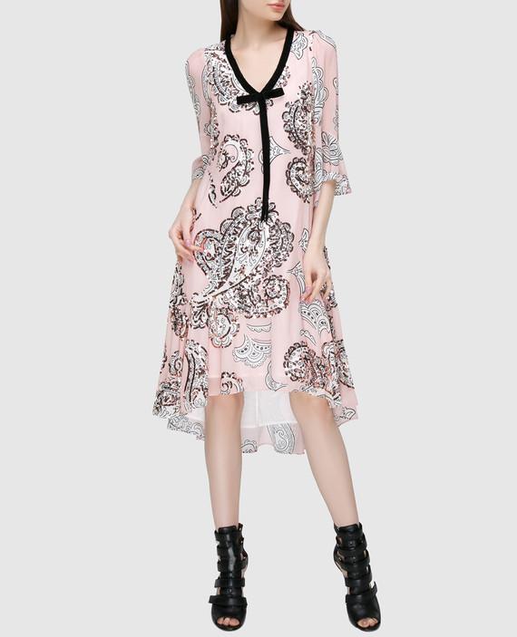 Персиковое платье hover