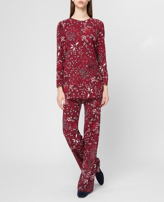 Бордовая блуза hover