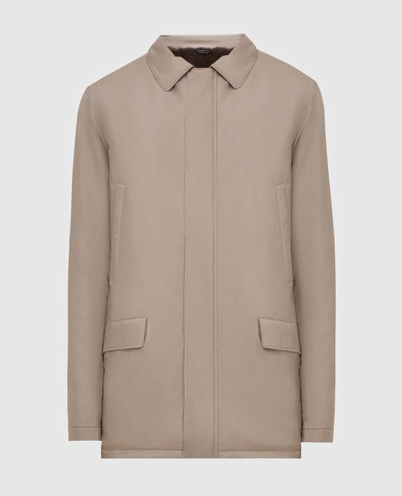 Темно-бежевое пальто