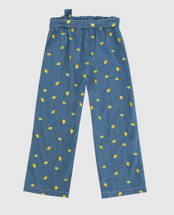 Детские синие брюки hover