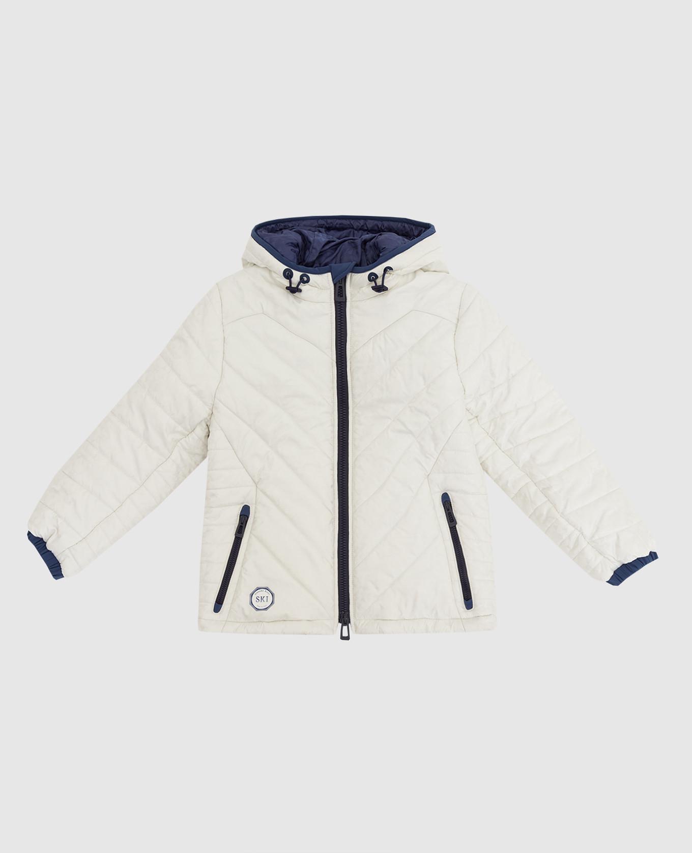 Детская куртка в узор Stefano Ricci