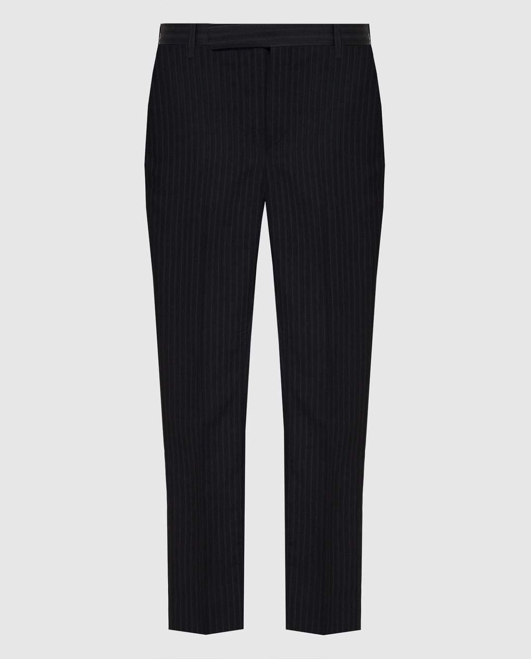Saint Laurent Черные брюки 552560