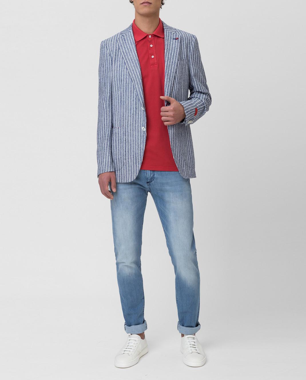 ISAIA Синий пиджак изображение 2
