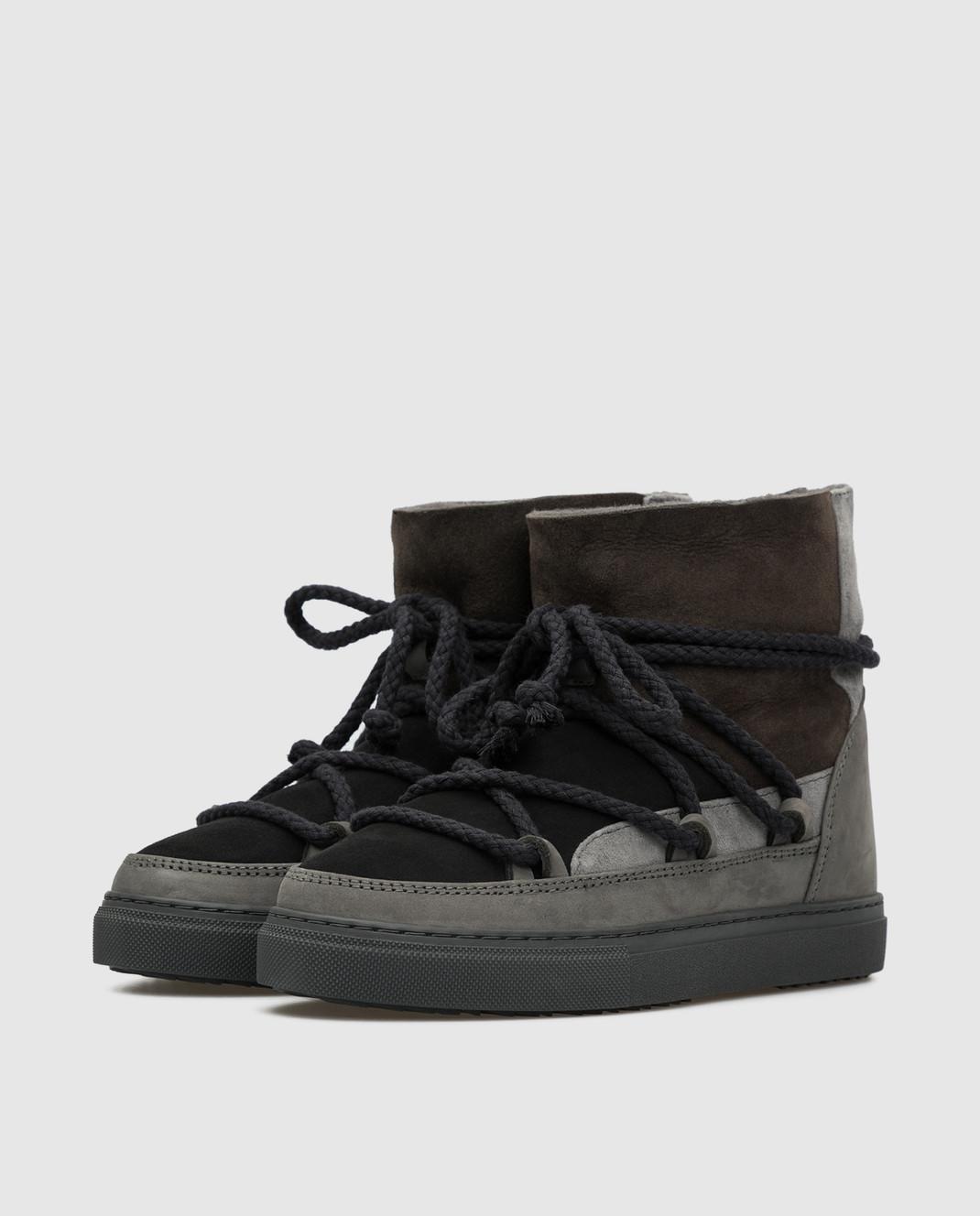 Inuikii Детские темно-серые ботинки на меху изображение 2
