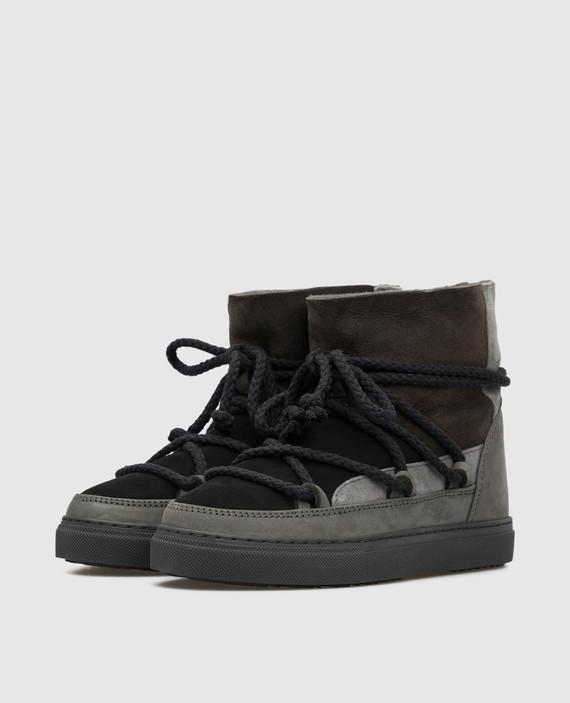 Детские темно-серые ботинки на меху hover