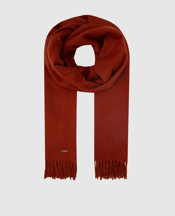 Терракотовый шарф из кашемира