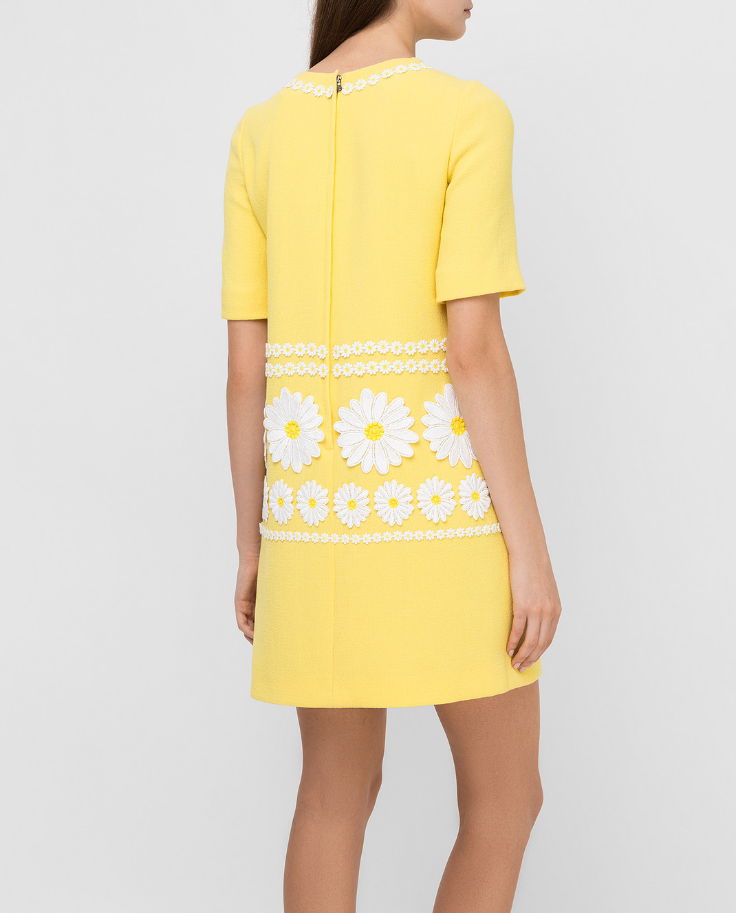 Dolce&Gabbana Желтое платье из шерсти F6UL3ZFU2TZ изображение 4