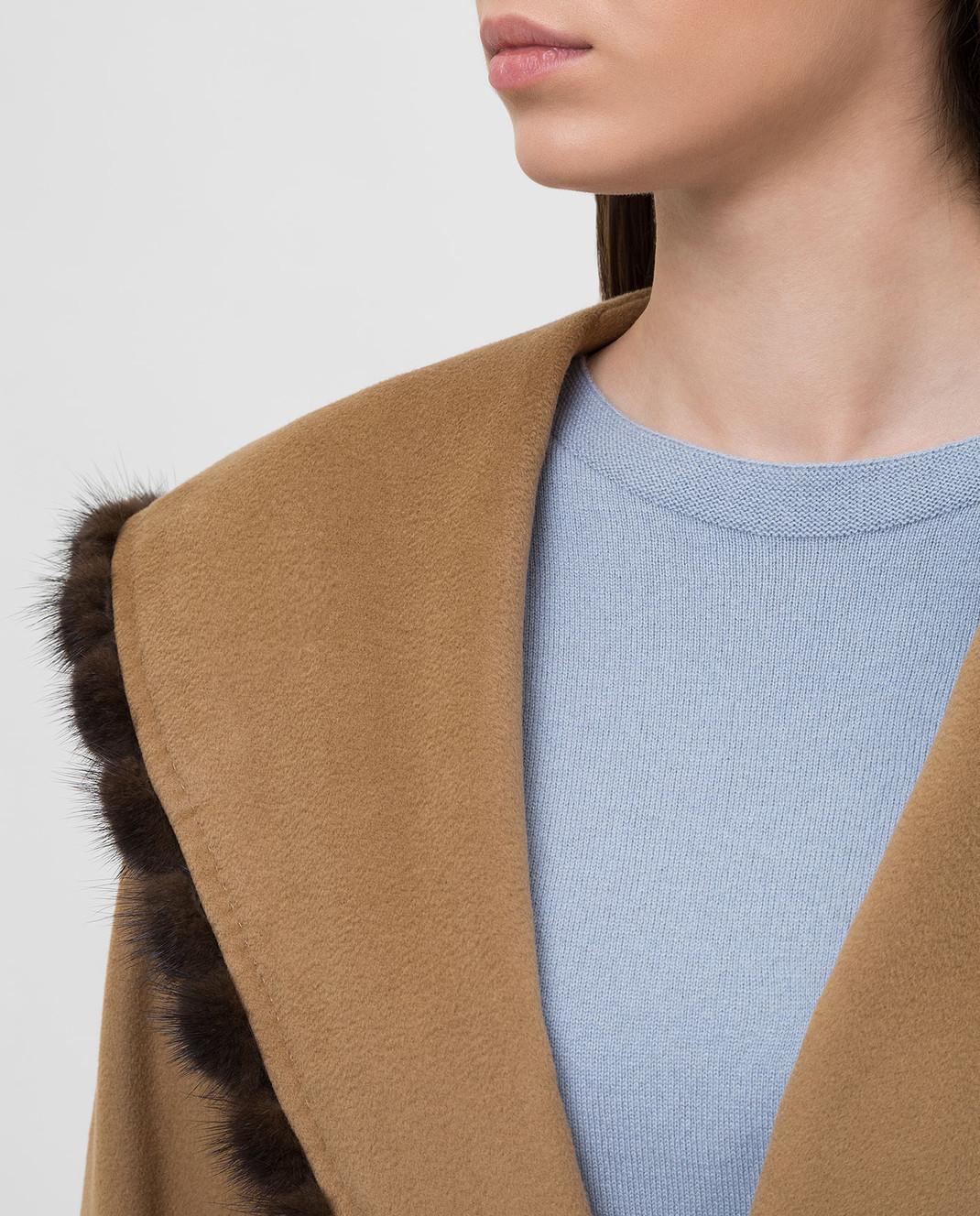 Heresis Бежевое пальто из шерсти M33130VIF260 изображение 5