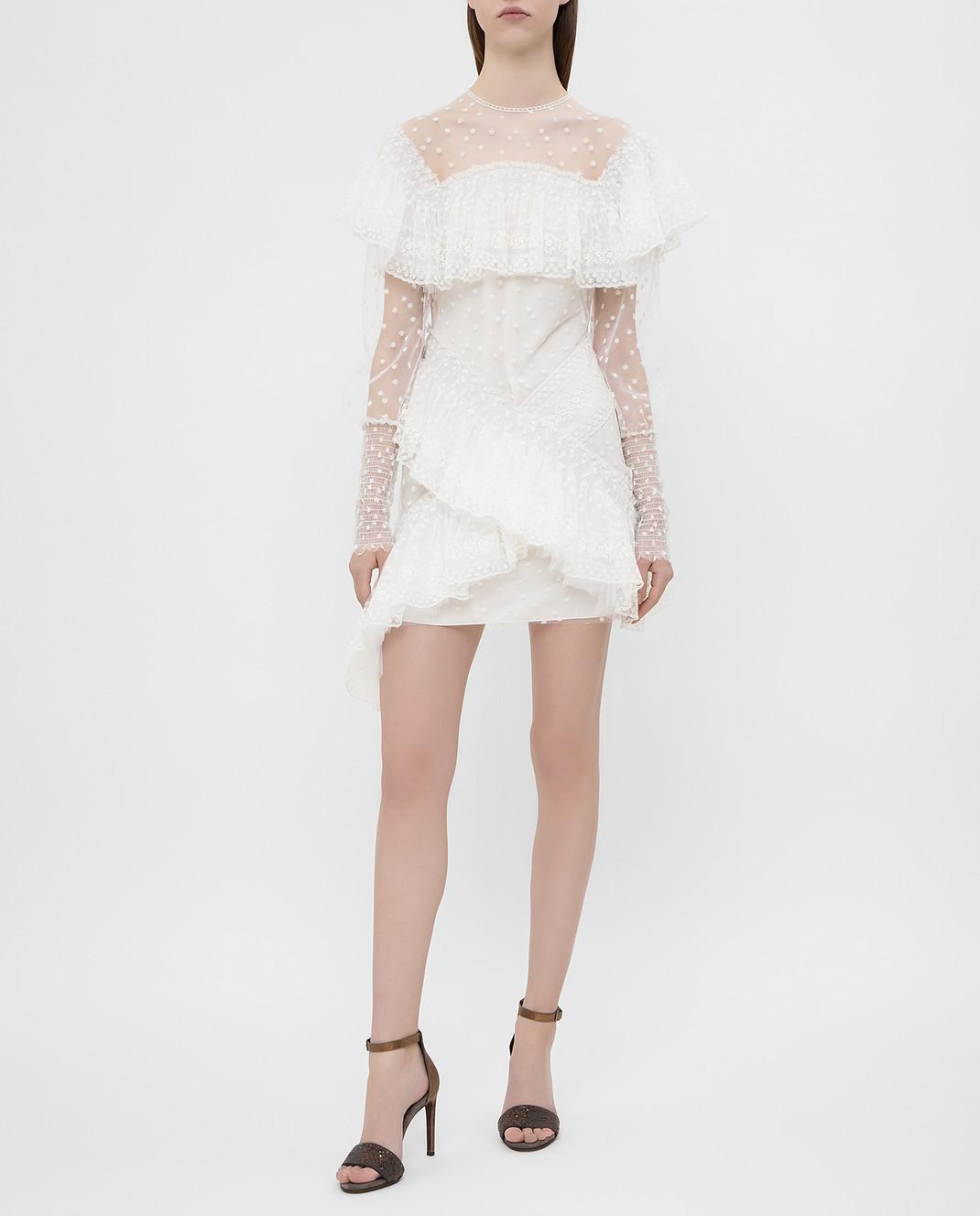 Philosophy di Lorenzo Serafini Белое платье с кружевом A0469 изображение 2